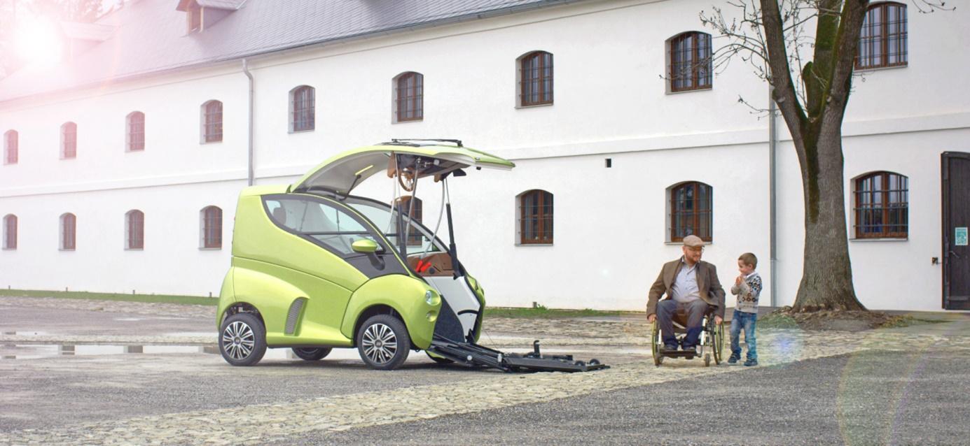 das erste smarte auto f r rollstuhlfahrer feiert schweizer. Black Bedroom Furniture Sets. Home Design Ideas