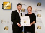 Mibelle Group für ihre Recruiting-Qualität mit dem 1. Platz ausgezeichnet