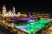 Schweizer Eco-Schlittschuhbahn ersetzt das weltgrösste Eisfeld in Mexiko-Stadt