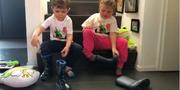 «Bananefüess» – Sam National und die Familien des Fördervereins für Kinder mit seltenen Krankheiten trotzen der Coronakrise
