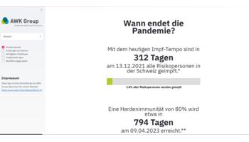 AWK Group lanciert Echtzeit-Webportal zur Nachverfolgung des Impf-fortschritts in der Schweiz