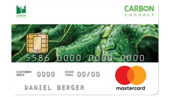 carbon-connect AG präsentiert die erste Kreditkarte, die bei jeder Transaktion Bäume pflanzt.