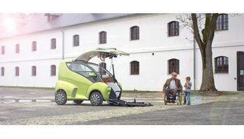 Das erste smarte Auto für Rollstuhlfahrer feiert Schweizer-Premiere