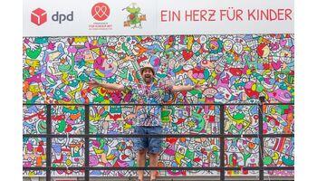 Ein voller Erfolg: 1. DPD Kinder-Malfestival «Ein Herz für Kinder» zugunsten des Fördervereins für Kinder mit seltenen Krankheiten