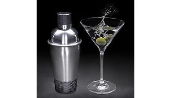 """Diamantenbesetztes Martini-Set zum Filmstart von """"007- Spectre"""""""