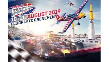 10. und 11. August 2019: RED BULL RACE DAY in Grenchen mit dem Besten aus Motorsport und Aviatik