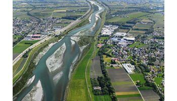 Internationale Rheinregulierung: Entwurf vierter Staatsvertrag nach Wien und Bern übermittelt