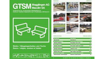 300 Bänke / Sitzgelegenheiten und Tische: neuer Katalog bei GTSM Magglingen AG