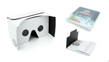 Preisalternative zu herkömmlichen VR Brillen - Virtual Reality Brille als Weihnachtskarte