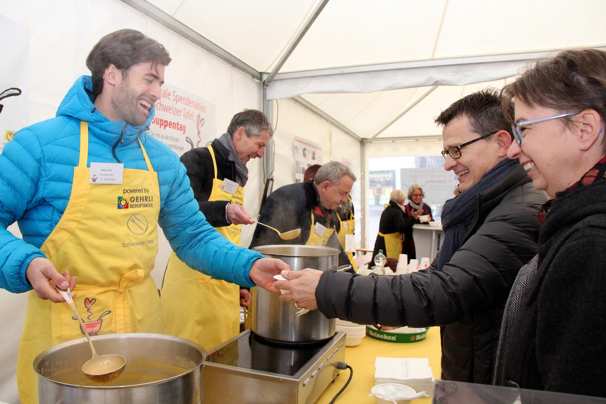 143ʽ210.20 Spendenfranken am Suppentag der Schweizer Tafel ...